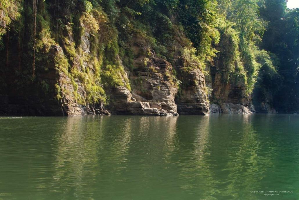 Rock cliffs at Dawki